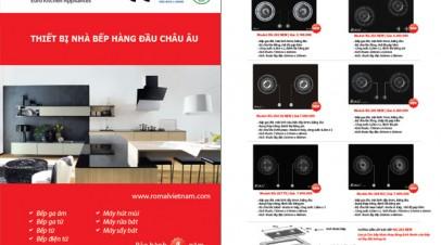 Thiết kế và In 5000 catalog thiết bị nhà bếp Romal (in lần 4)
